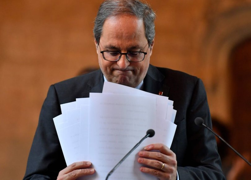Quim Torra inhabilitado por el Tribunal Supremo. Fotografía de elPeriodico / Pau Barrena.
