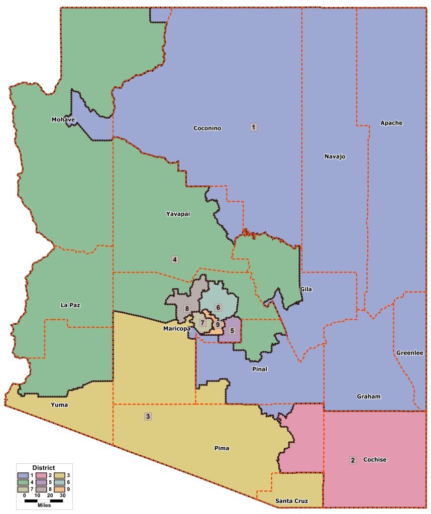 Mapa electoral de Arizona