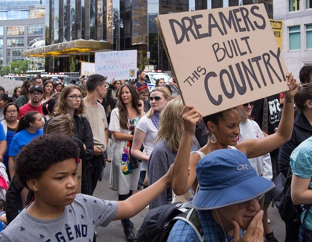 Protestas en favor de los dreamers (2018).