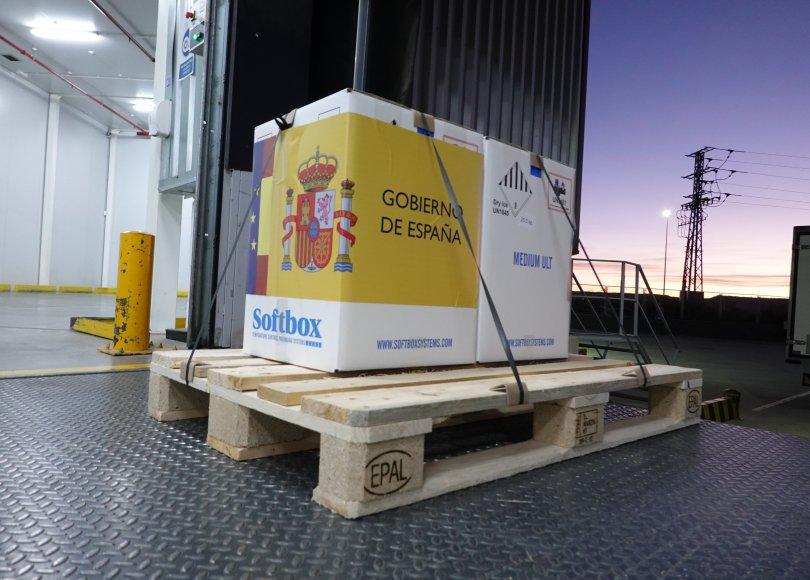 La llegada a España de las vacunas de Pfizer